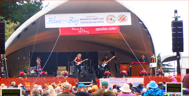 Laurie Morvan Band is the crowd favorite at Blues by the Bay Festival in Eureka, CA