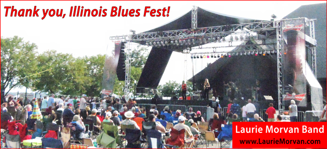 Laurie Morvan Band had the highest CD sales of any band at Illinois Blues Fest