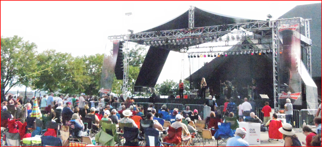 Laurie Morvan Bands hits big at the Budweiser Illinois Blues Fest