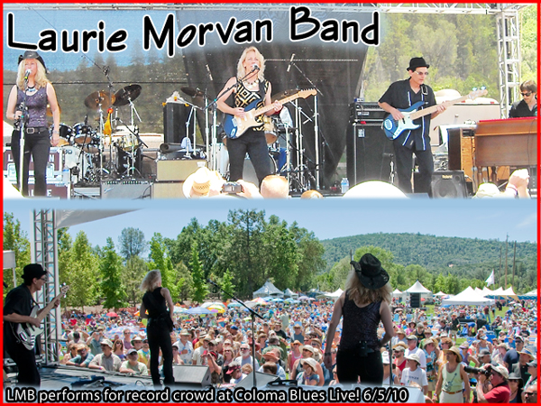Laurie Morvan Band performed for record crowd at Coloma Blues Live