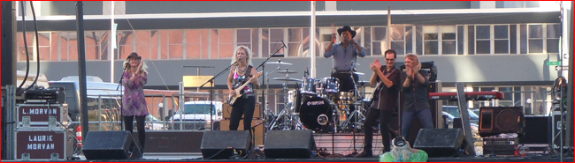 Laurie Morvan Band burning it up at the Tall City Blues Fest in Midland, TX