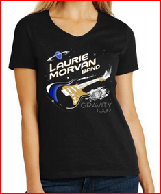 Womens Black Gravity Tour Vneck